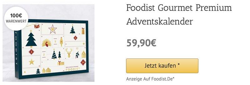 Foodist Gourmet Premium Adventskalender 2018