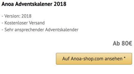 Anoa Adventskalender 2018