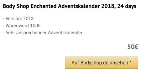 Body Shop Enchanted Adventskalender 2018