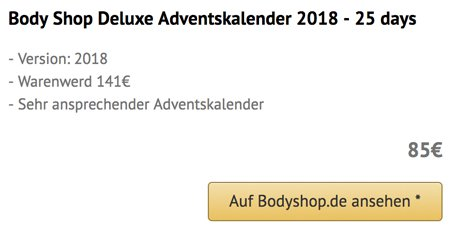Body Shop Deluxe Adventskalender 2018