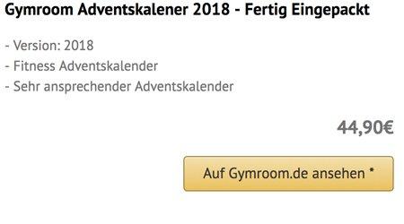 Gymroom Adventskalender 2018 Eingepackt