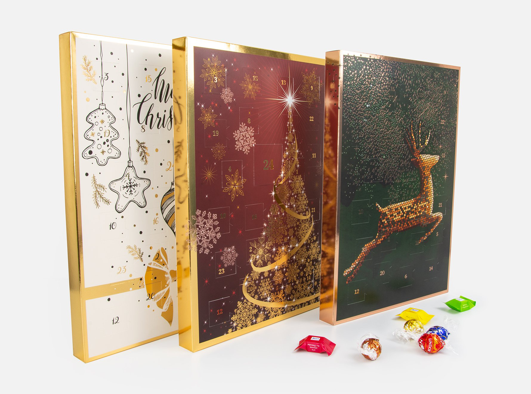 Foto Adventskalender Design mit Schokolade